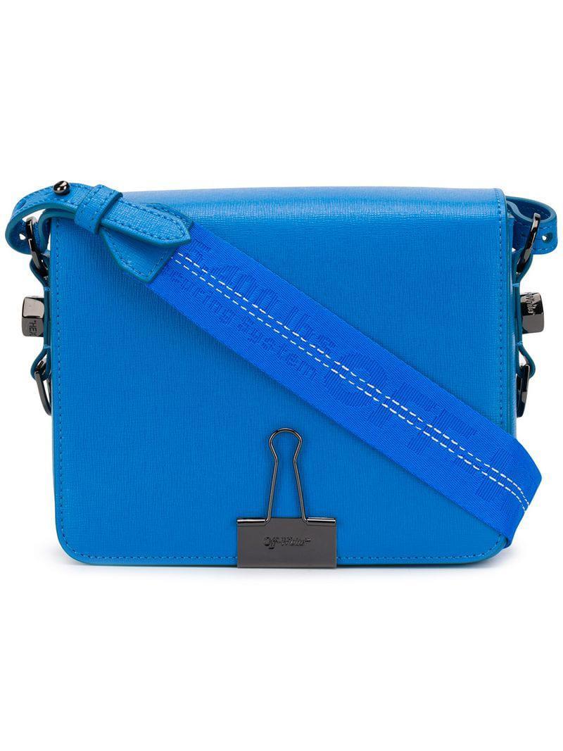 49970e68f83f8 Off-White C O Virgil Abloh Foldover Clip Shoulder Bag in Blue - Lyst