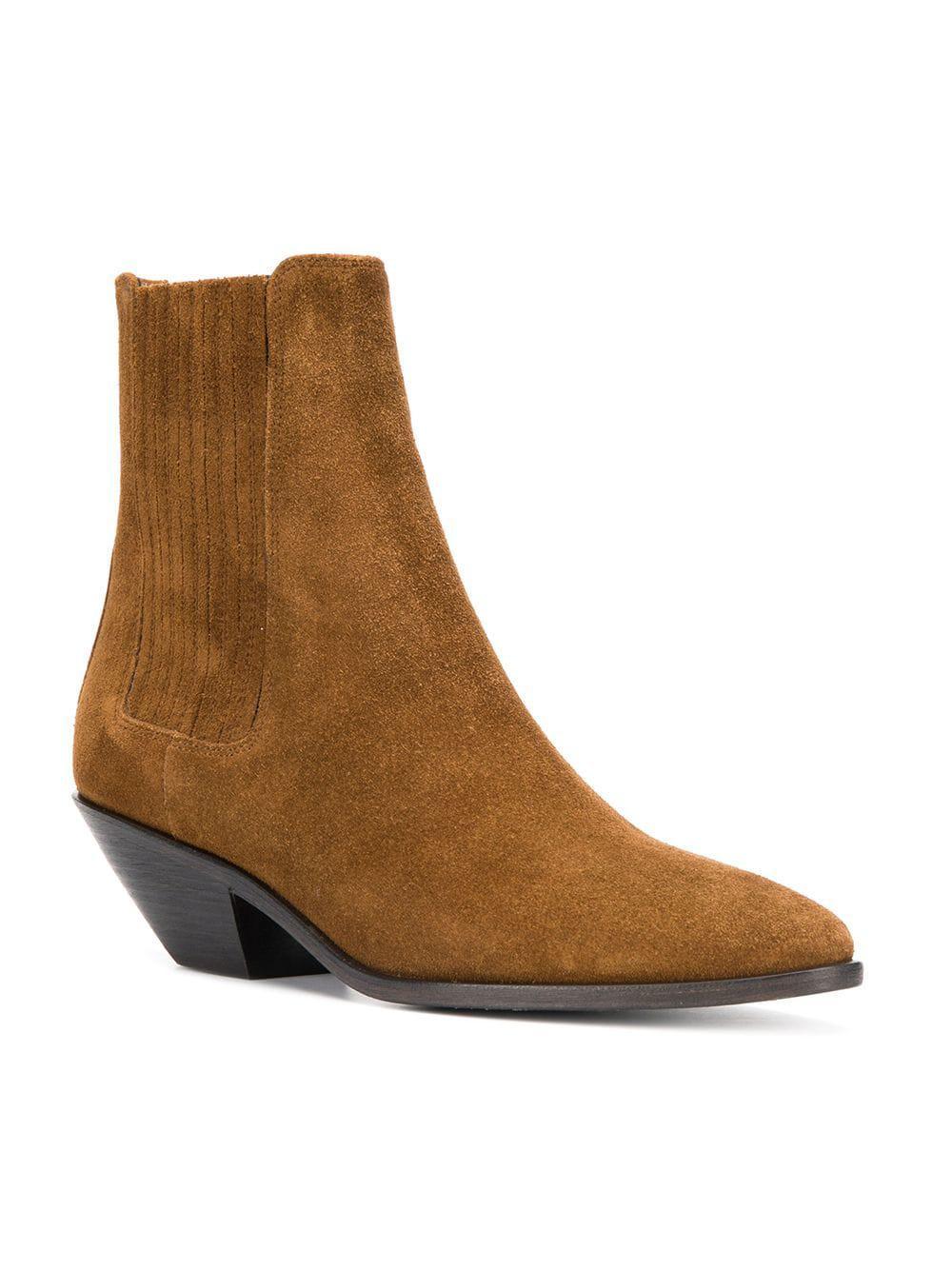 b9d0c7558dcfb Lyst - Saint Laurent West Chelsea Boots in Brown