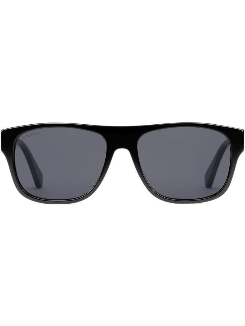 21ce3984d9 Gucci - Black Gafas de sol rectangulares de acetato for Men - Lyst. Ver en  pantalla completa