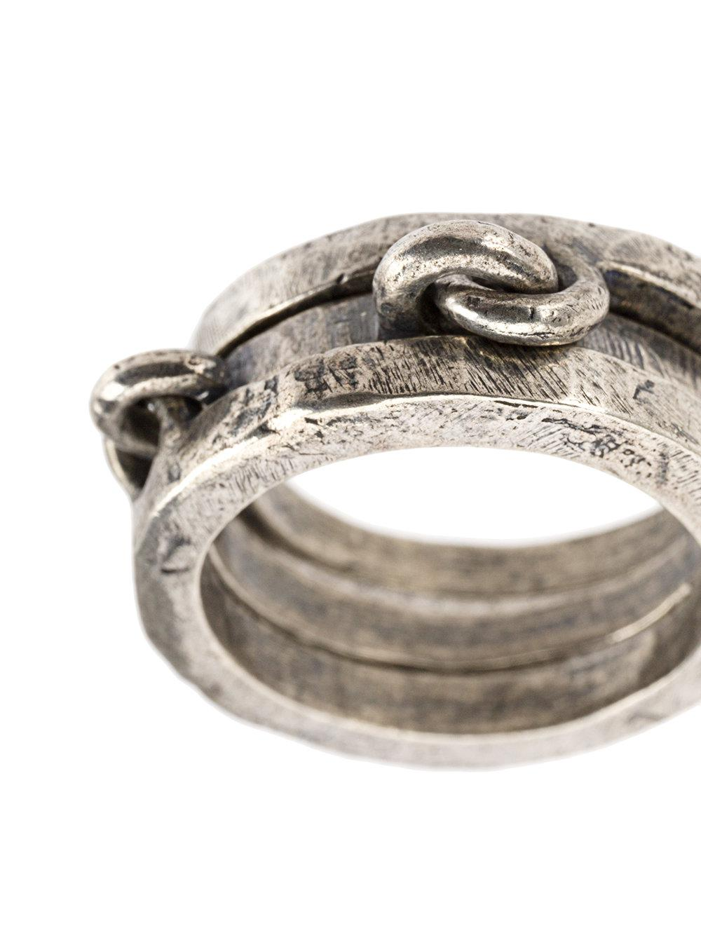 Tobias Wistisen linked ring - Metallic kwSRUK