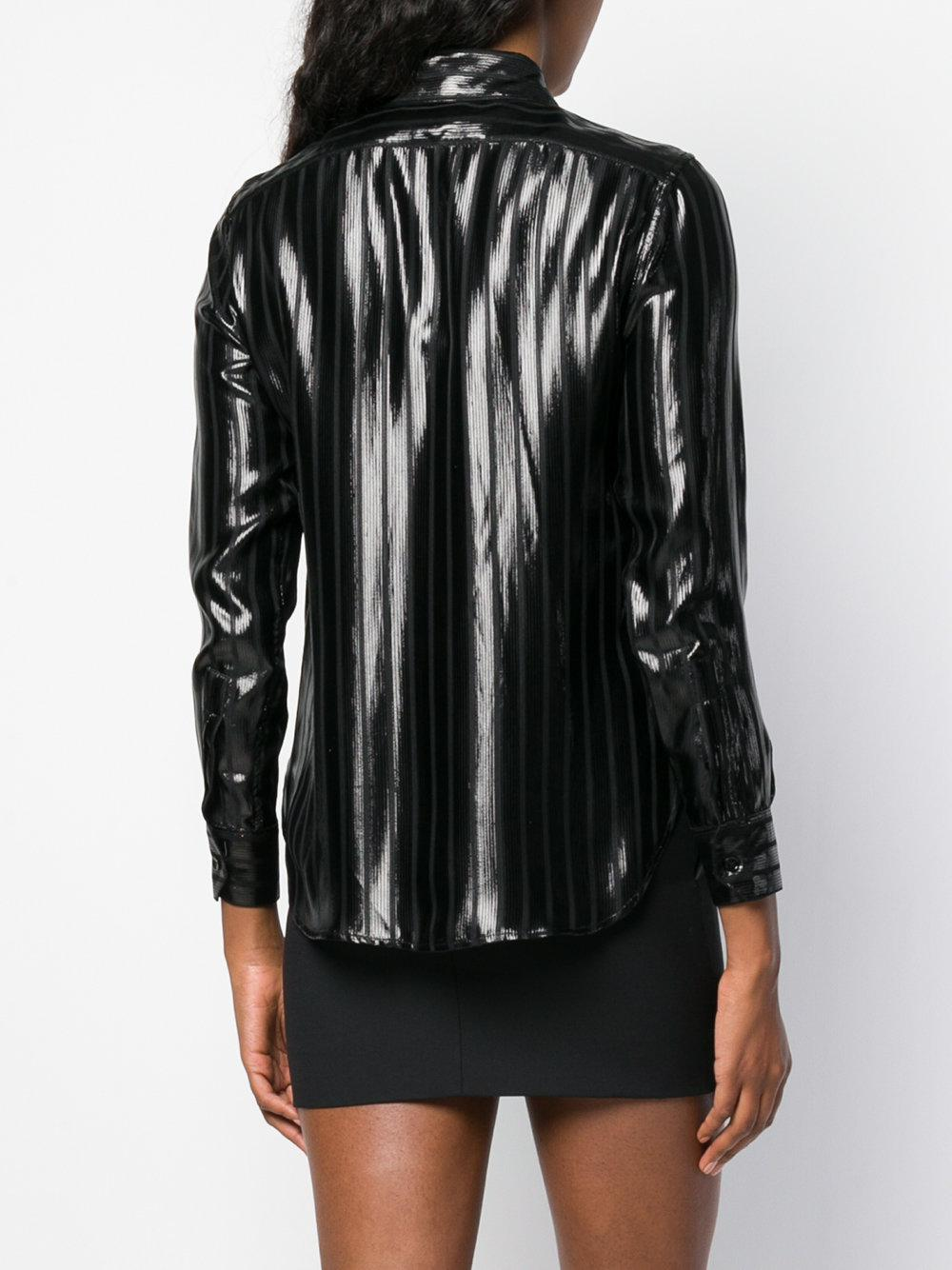 Saint Laurent striped patent shirt Where Can You Find Purchase Discount Amazing Price Best Online dgTOUdb