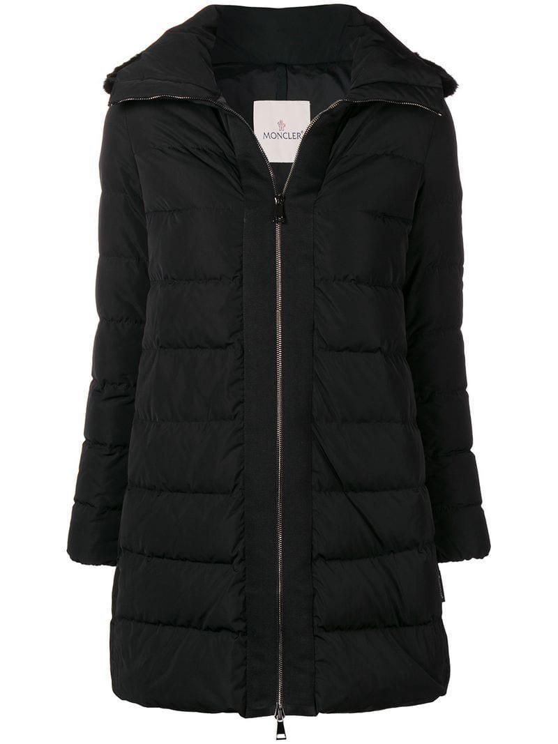 e5aa441e4 Moncler Linotte Padded Coat in Black - Lyst