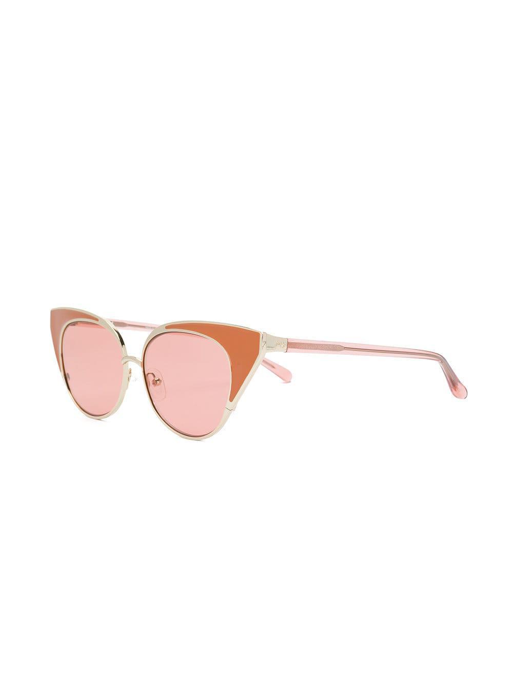 4769a2e54f1 N°21 X Linda Farrow Cat-eye Sunglasses in Pink - Save 19.742489270386272% -  Lyst