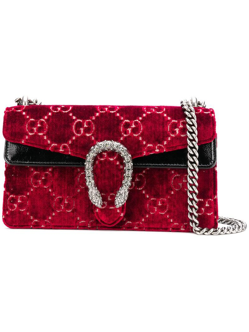 ea1203bb289 Gucci - Red Dionysus GG Supreme Bag - Lyst. View fullscreen