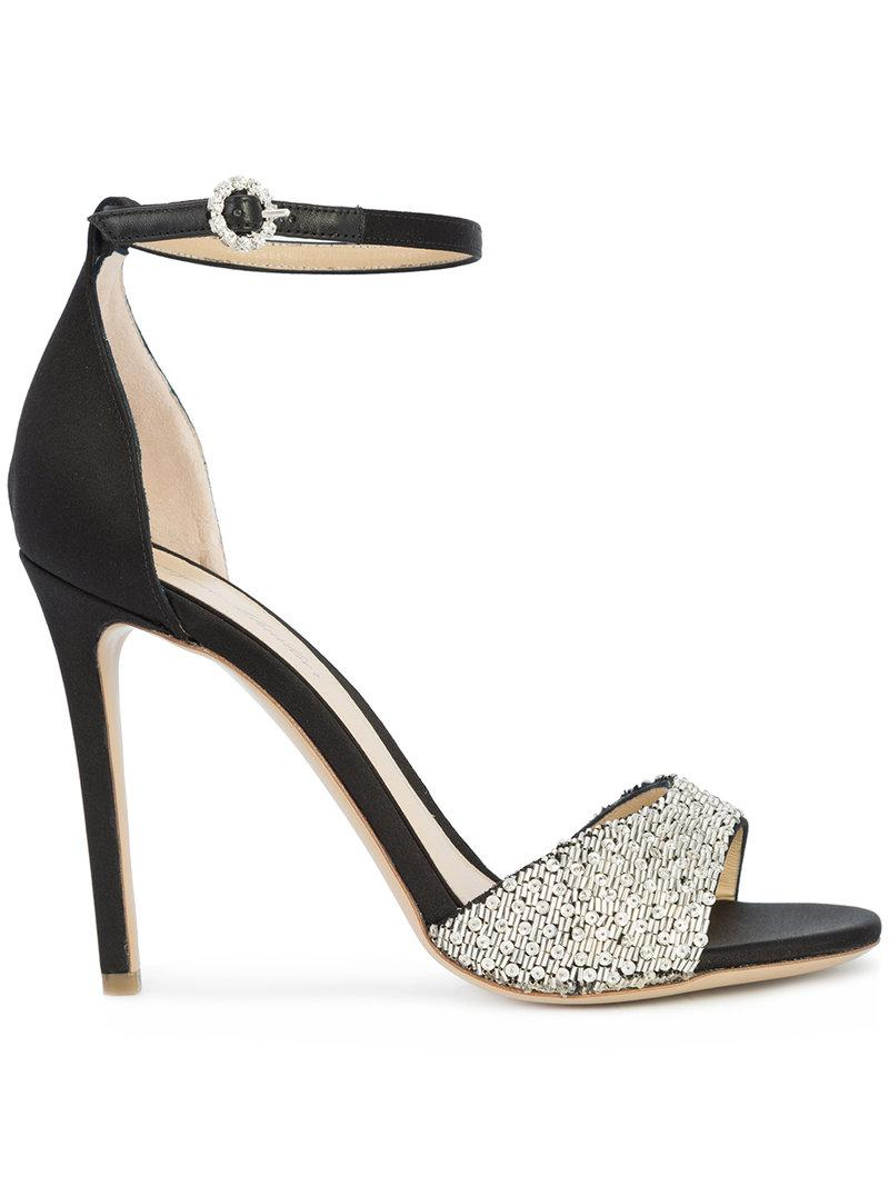 Monique Lhuillier sequinned embellished sandals clearance newest free shipping sast enjoy for sale jkE7iRo