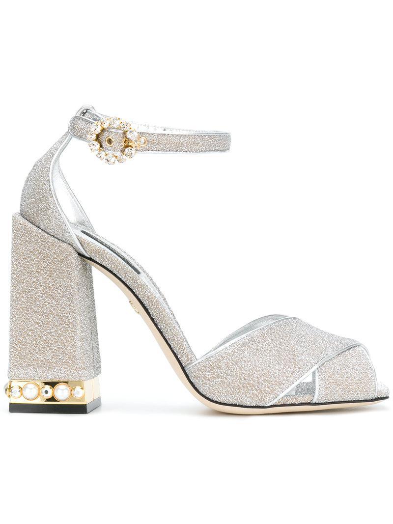 Dolce & Gabbana Sandales Bette - Métalliques J3oaN5iz5A
