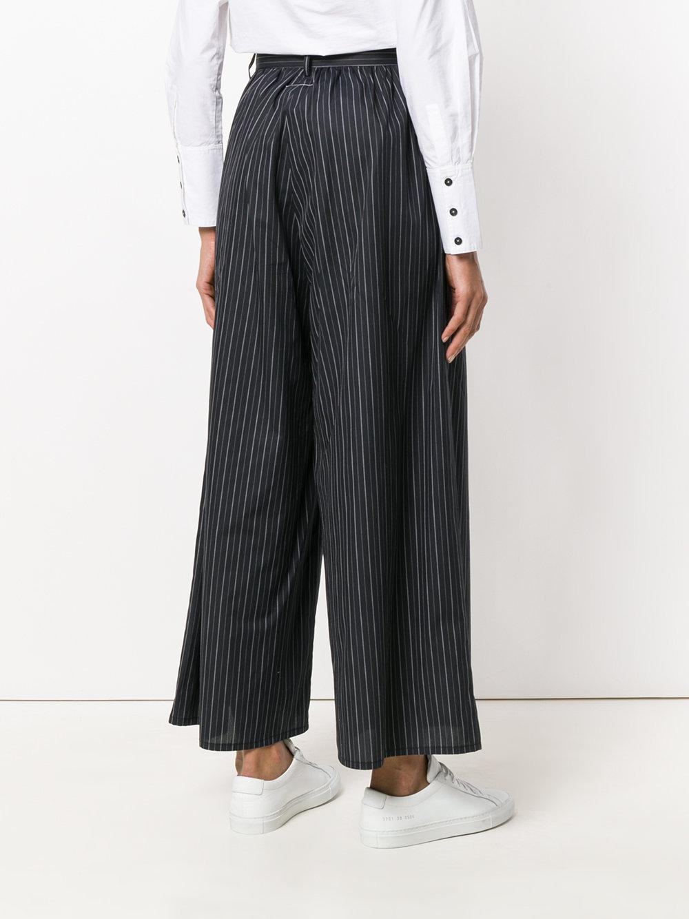 Margiela a Martin Maison rayas Negro Pantalones cortados 8UwqTBRR