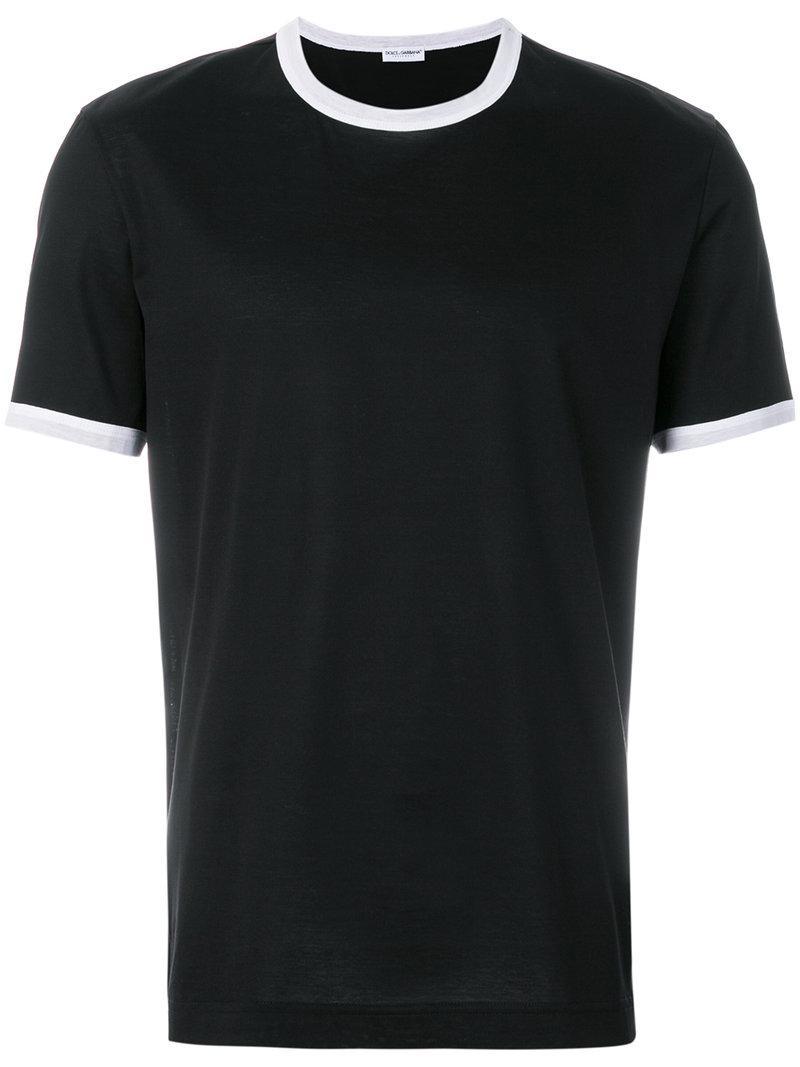 Dolce & Gabbana T-shirt à bordures contrastantes OSZSWqS