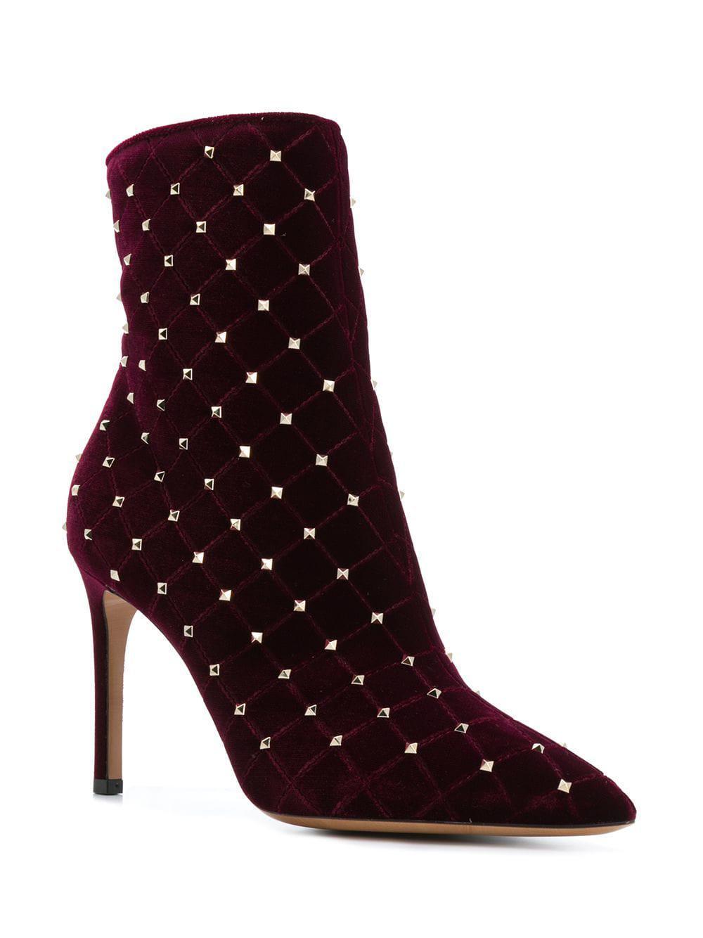 47737587425 Valentino - Red Garavani Rockstud Spike Court Boot - Lyst. View fullscreen