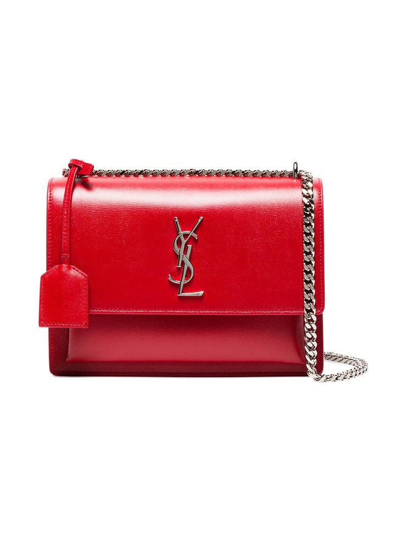 3865b426a488 Lyst - Saint Laurent Sunset Bag in Red - Save 30%