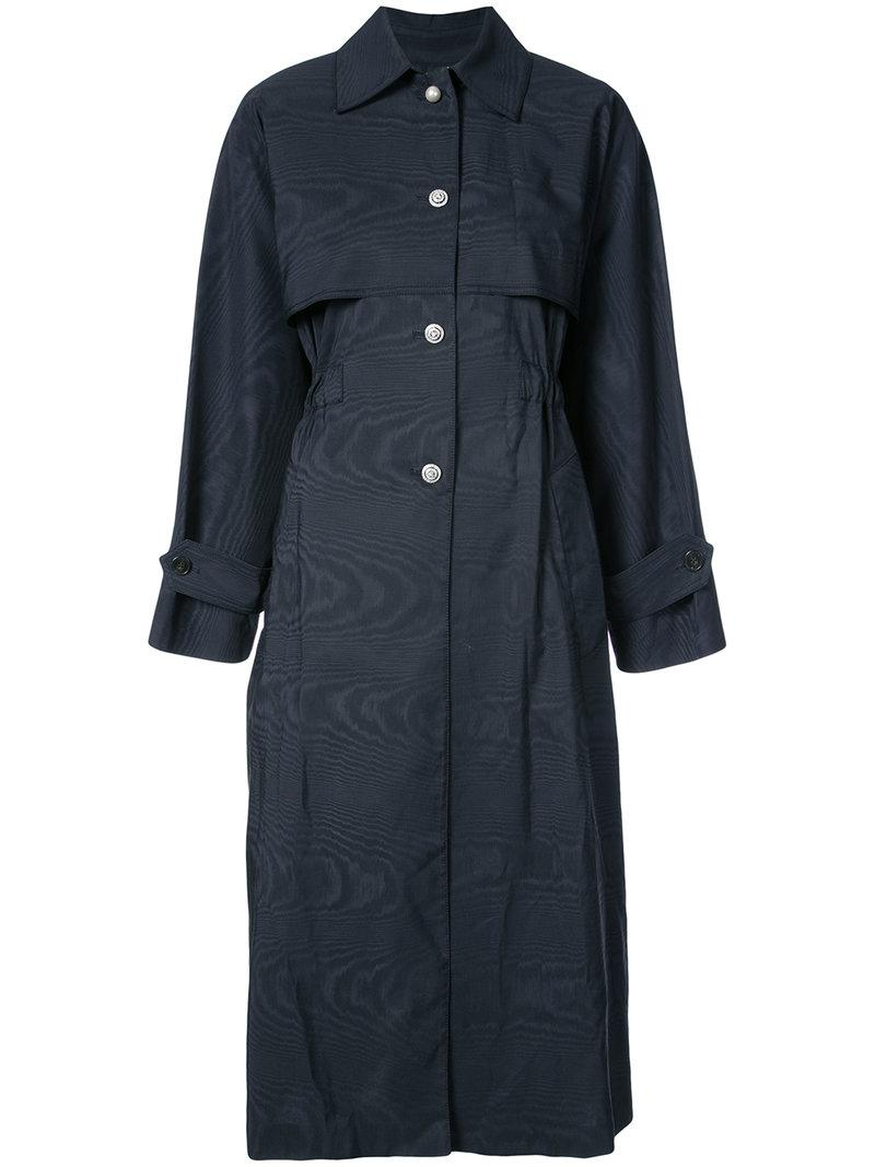Adam Lippes button-embellished trench coat All Seasons Available TZjl8sAGu