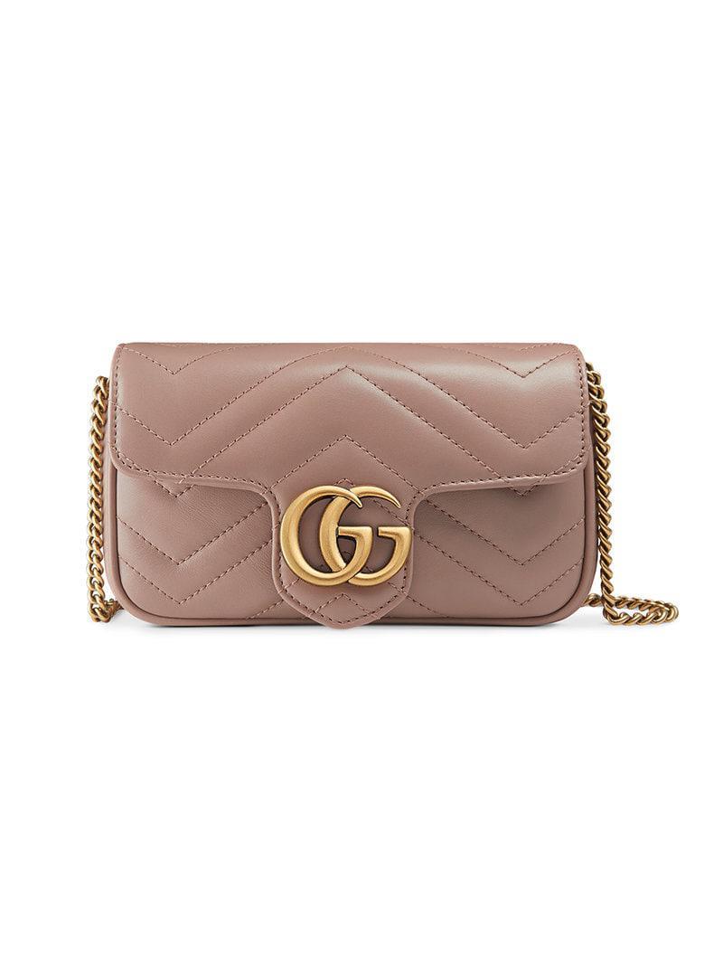 Lyst - Gucci GG Marmont Matelassé Leather Super Mini Bag - Save 7% daa9deb95deea
