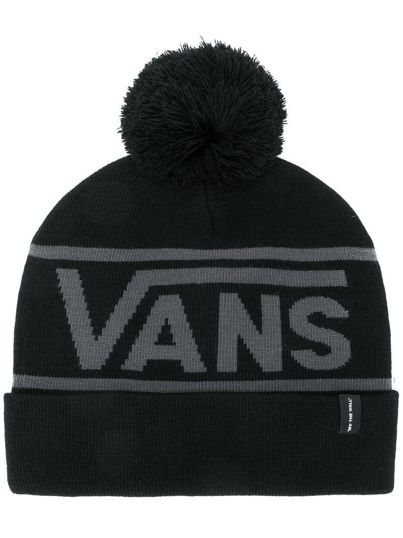 Vans Logo Knit Bobble Hat in Black for Men - Lyst ac37d23bf2e