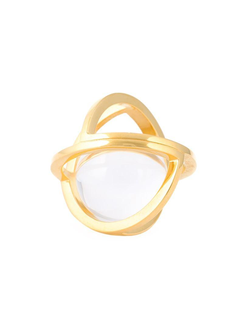 Lara Bohinc Planetaria double ring - Metallic
