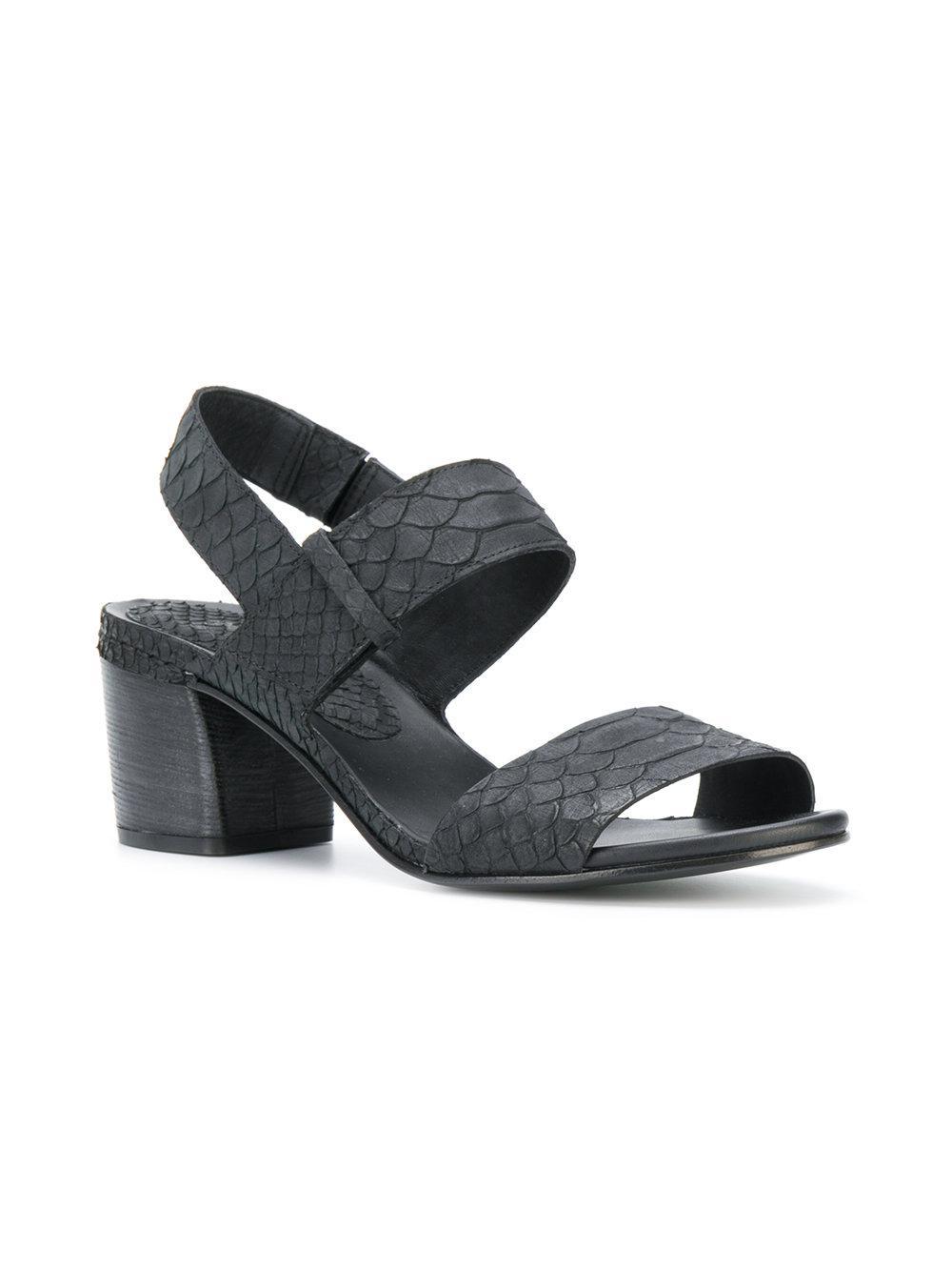 ROBERTO DEL CARLO Snakeskin effect sandals HhI07n