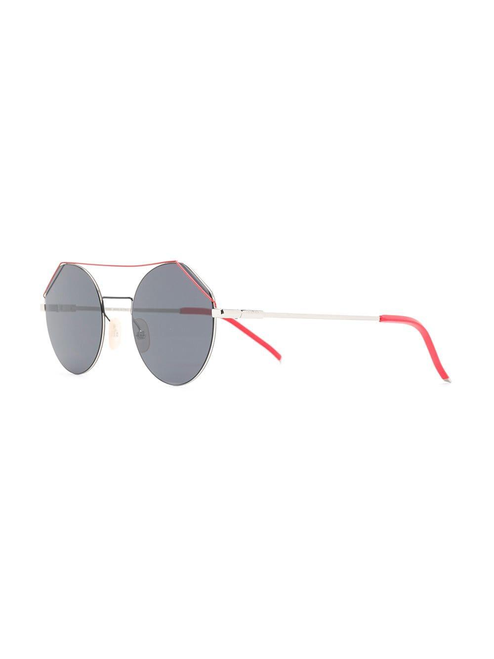 30ee3e729aaee Fendi - Metallic Eyeline Sunglasses - Lyst. View fullscreen