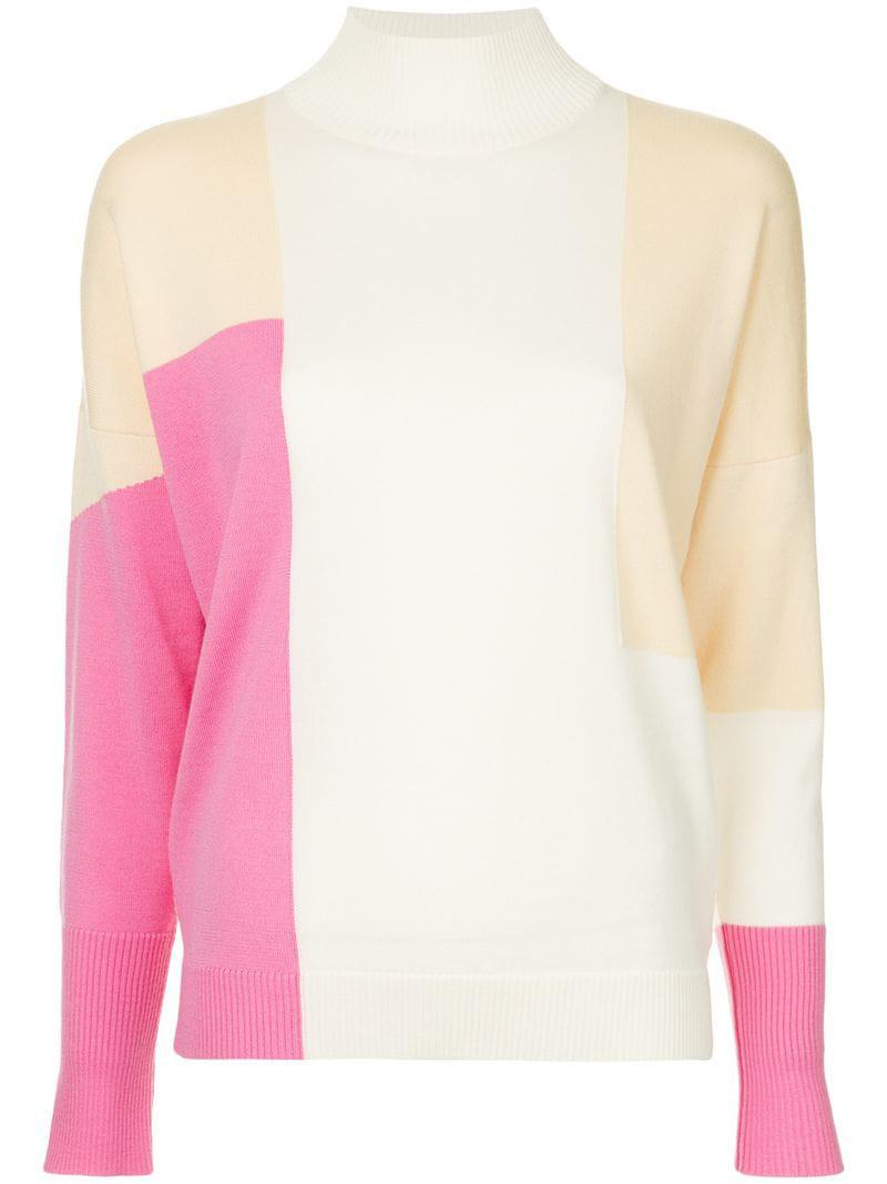 Pink Delpozo Knit Women s Block Jumper Colour 7g0BqA 82e4159667d