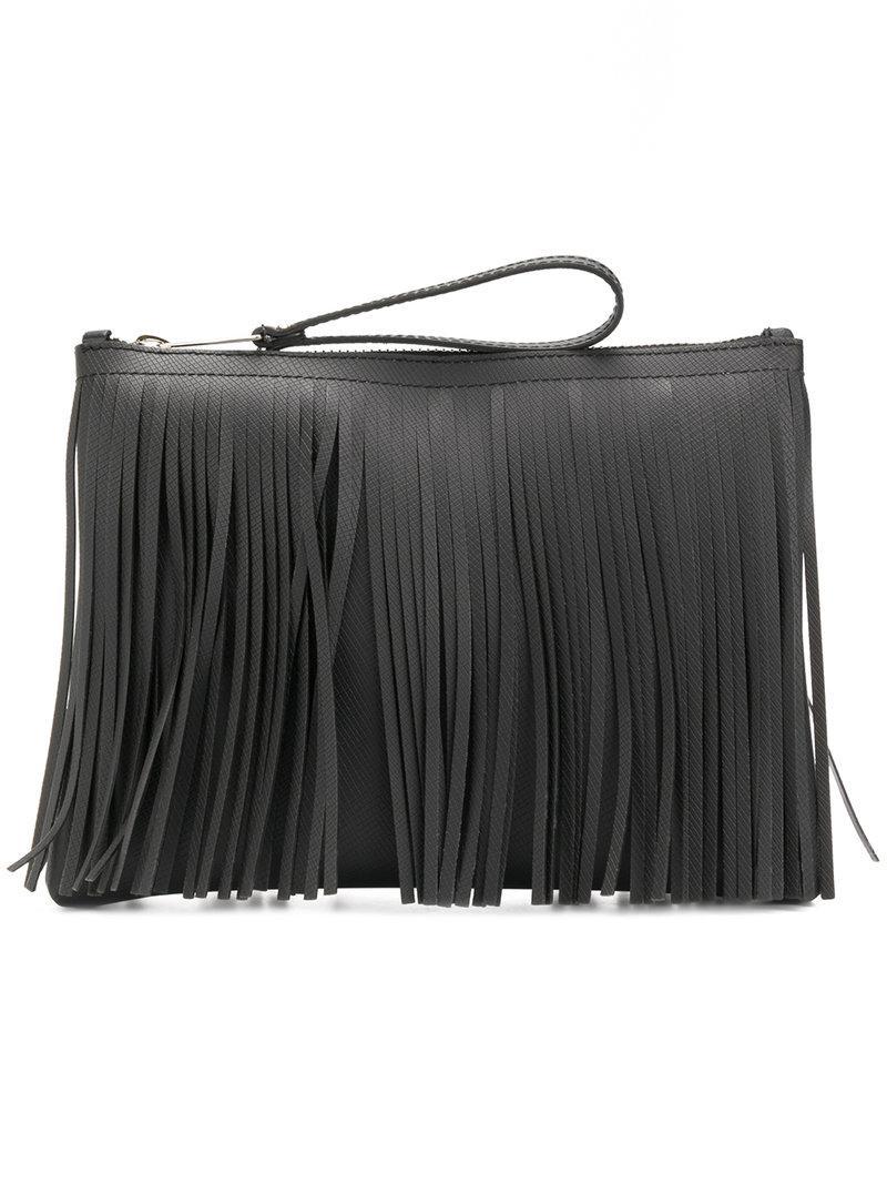 Osklen Embrayage De Franges En Noir Classique Sortie teeobecS3Z