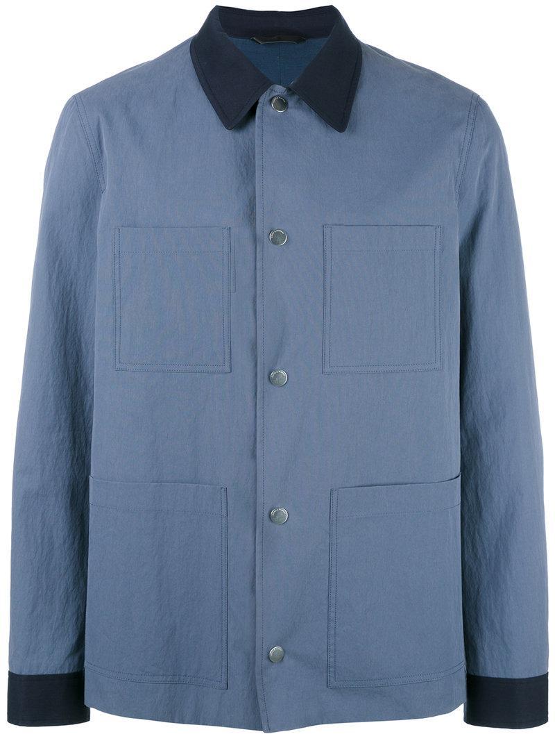 Shirt Zipped Bleu amp; Hawkes Gieves Jacket pdx18d