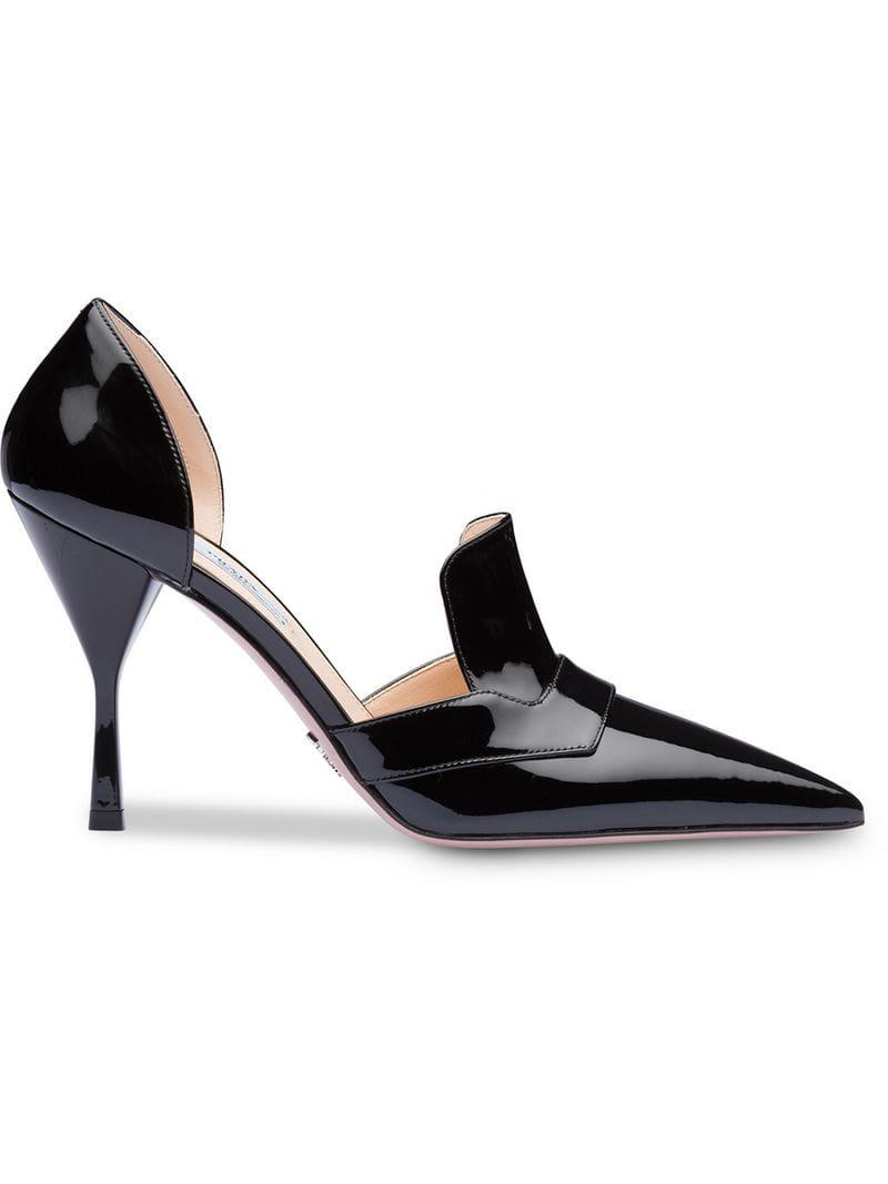 cc60841a2bd Prada. Women s Black Patent Pointed Court Shoes