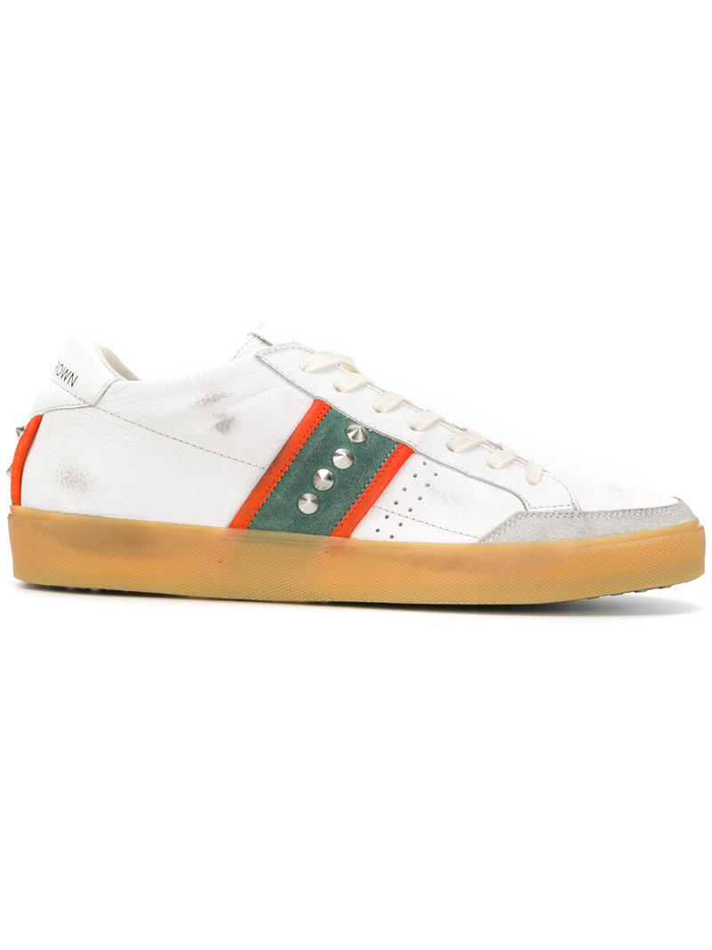 Studded sneakers Leather Crown Discount Cheap Sale Popular Discount Cheap Sale Deals Official For Sale JEwGSMNyX3