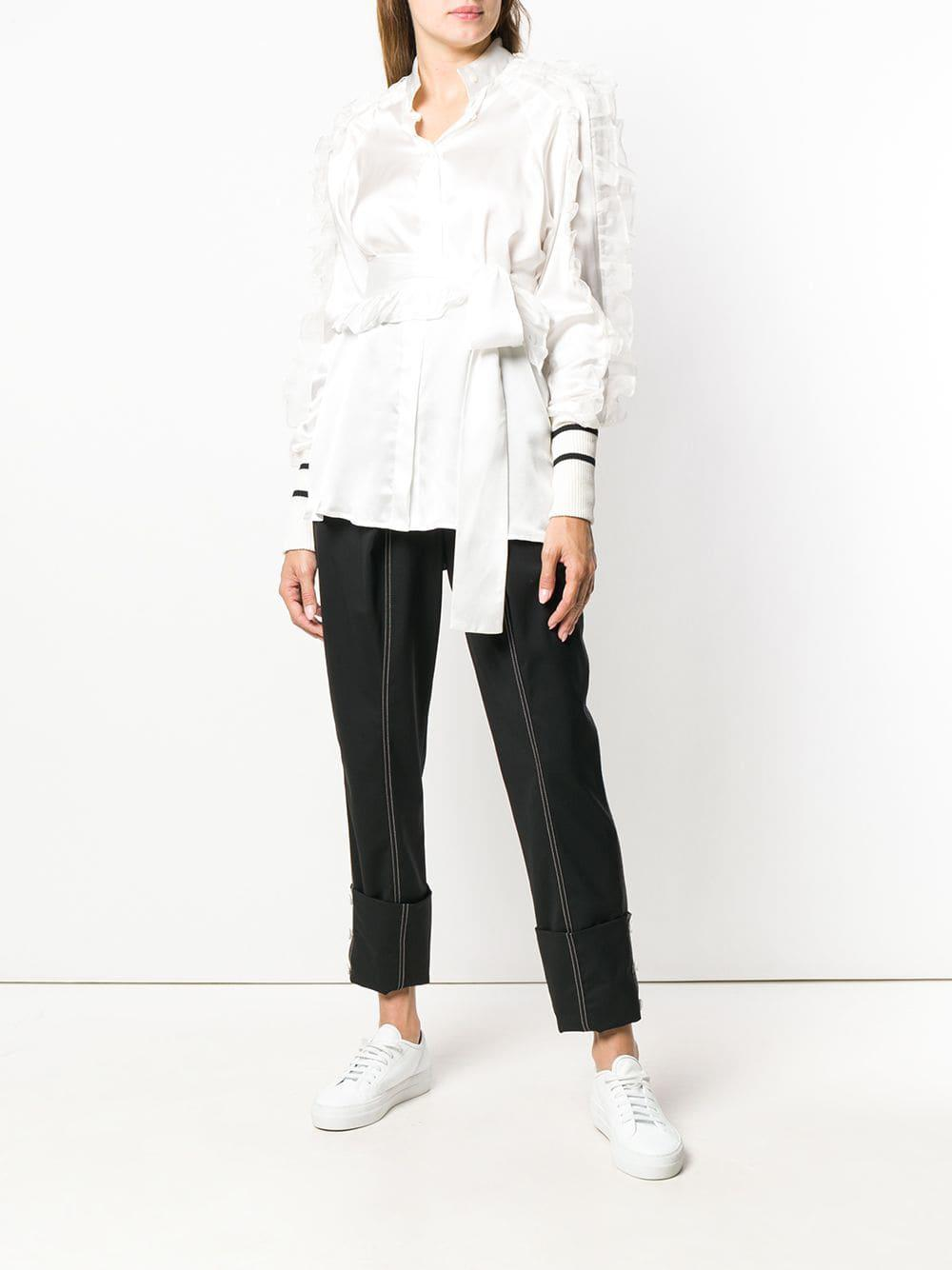 799693e2f44cba Lyst - Maggie Marilyn Ruffled Sleeve Blouse in White - Save 55%