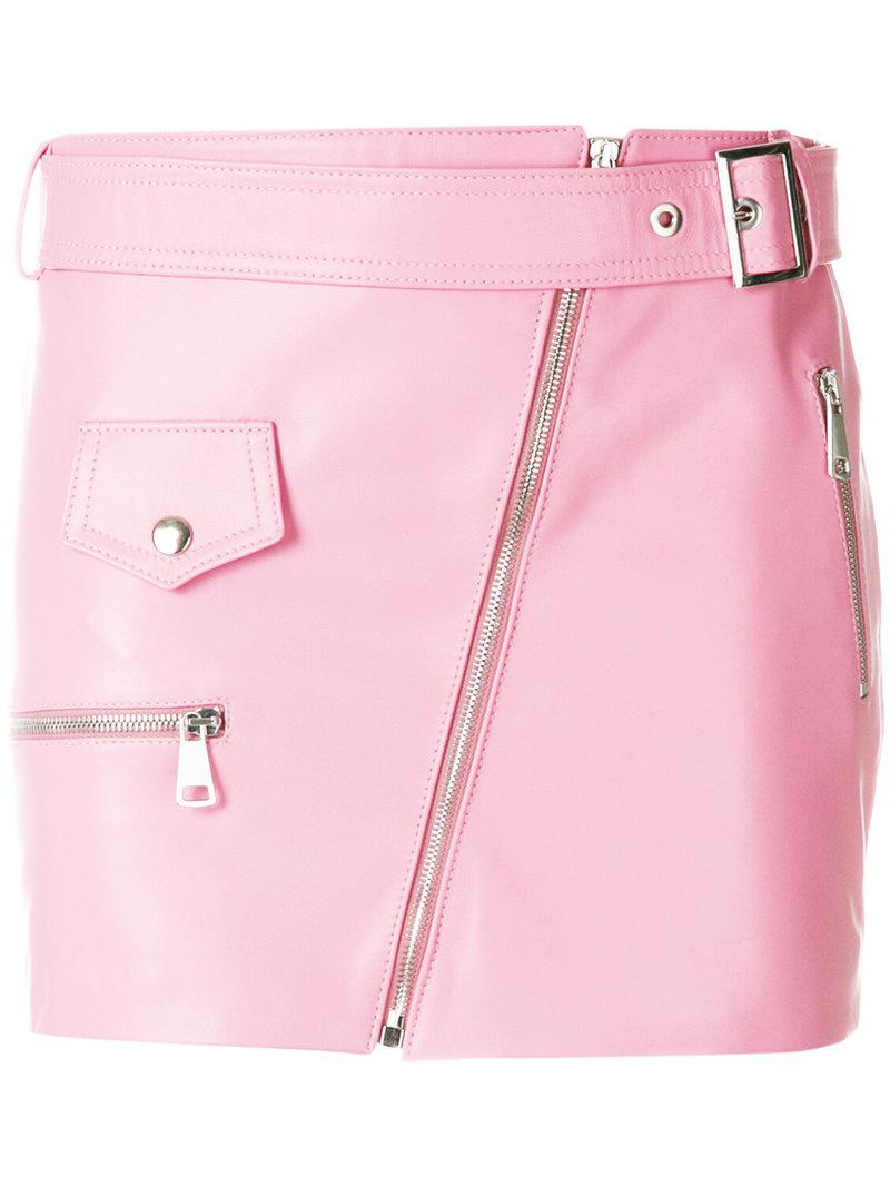 zipped mini skirt - Pink & Purple Manokhi Nicekicks Cheap Online T9FZtqa