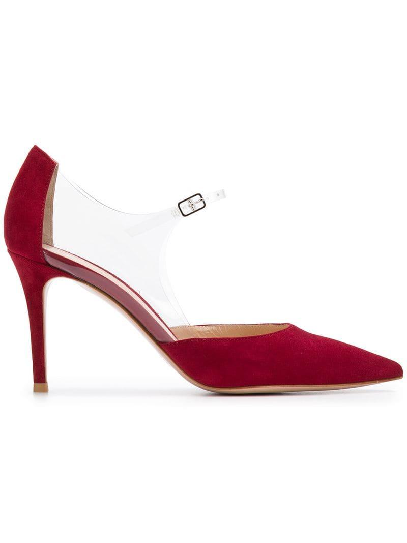 26dac4ac254 Lyst - Gianvito Rossi Plexi 85 Pumps in Red