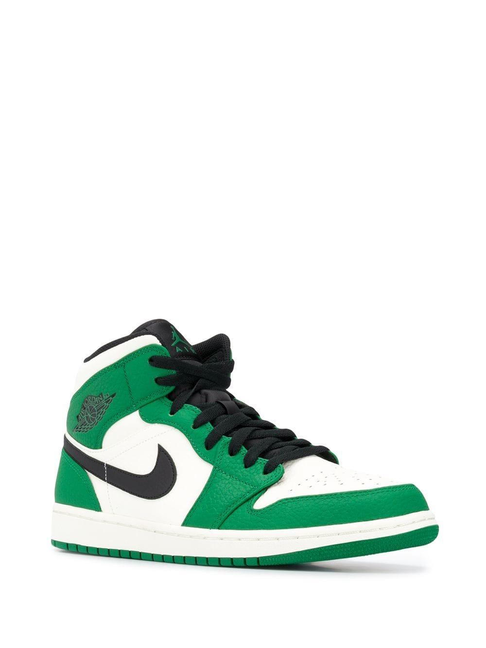 a2a0835d922801 Nike Air Jordan 1 Mid Sneakers in Green for Men - Lyst