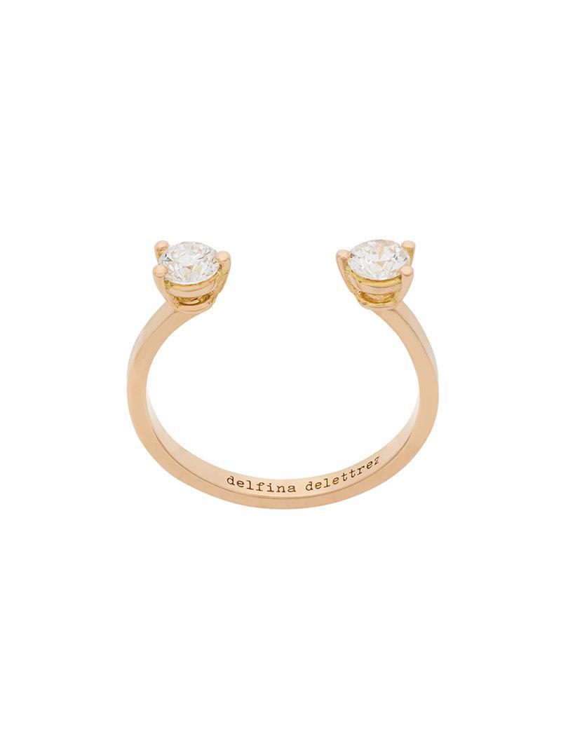 Delfina Delettrez Handroid diamond ring - Metallic 8L3Wq
