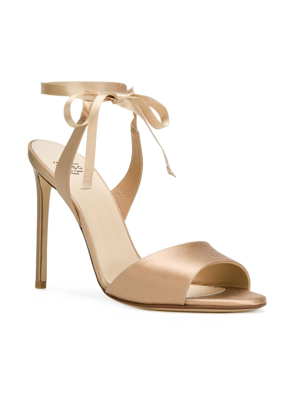 wrapped ankle sandals - Nude & Neutrals Francesco Russo Y5PPKijR