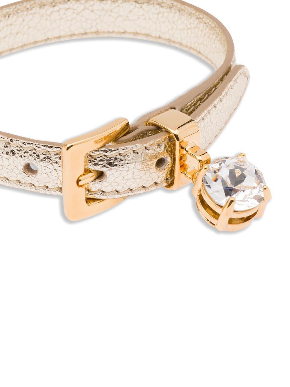 1af244df59c Miu Miu - Metallic Madras Bracelet - Lyst. View fullscreen