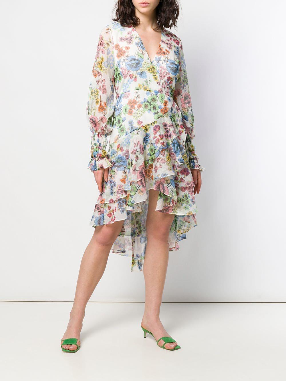 2c1849f1094988 Lyst - Alexis Floral Print Wrap Dress