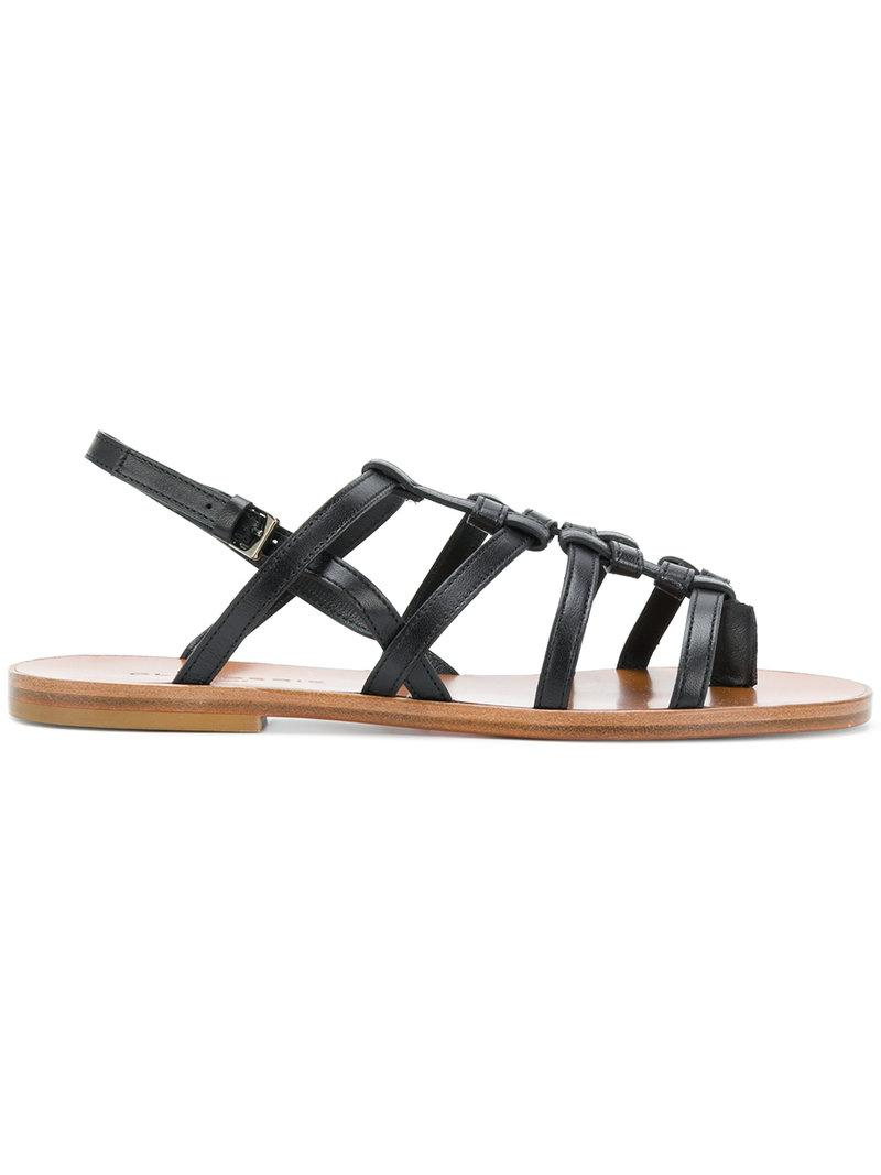 Buy Cheap Perfect flat strappy sandals - Black Robert Clergerie Wholesale Price Sale Online Visit New Discount Ebay U3wBUCnbn