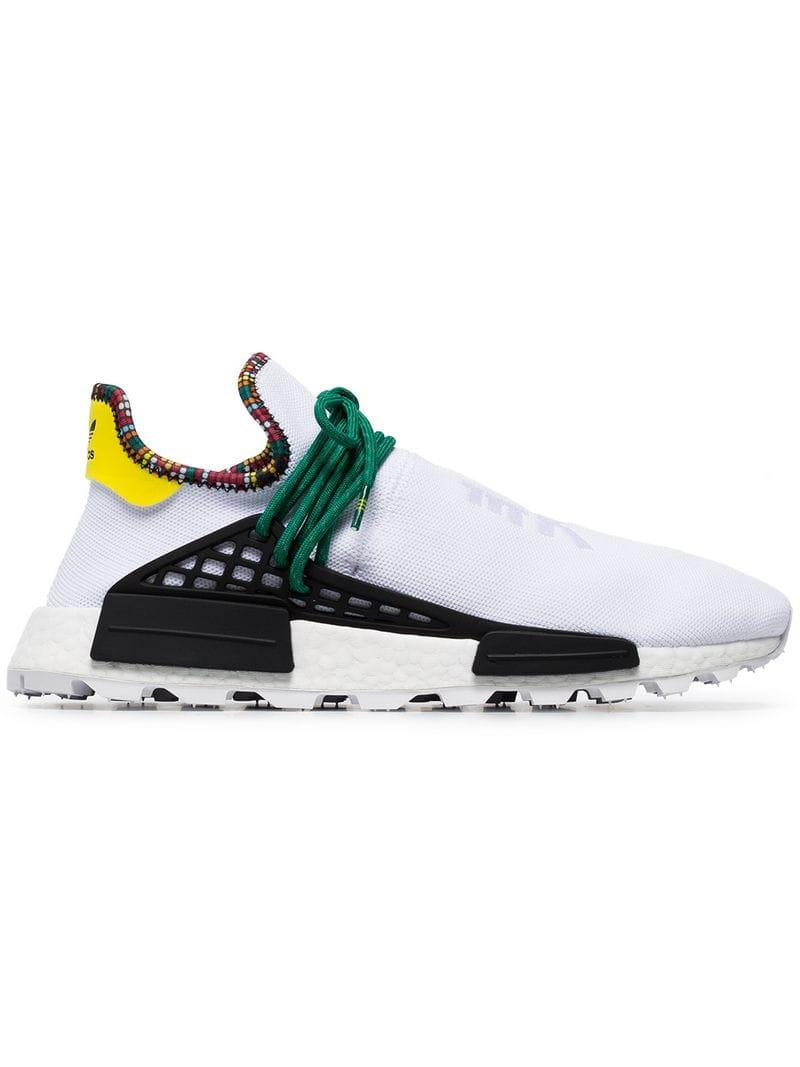 d91a93b190936 adidas X Pharrell Williams White Human Body Nmd Sneakers in White ...