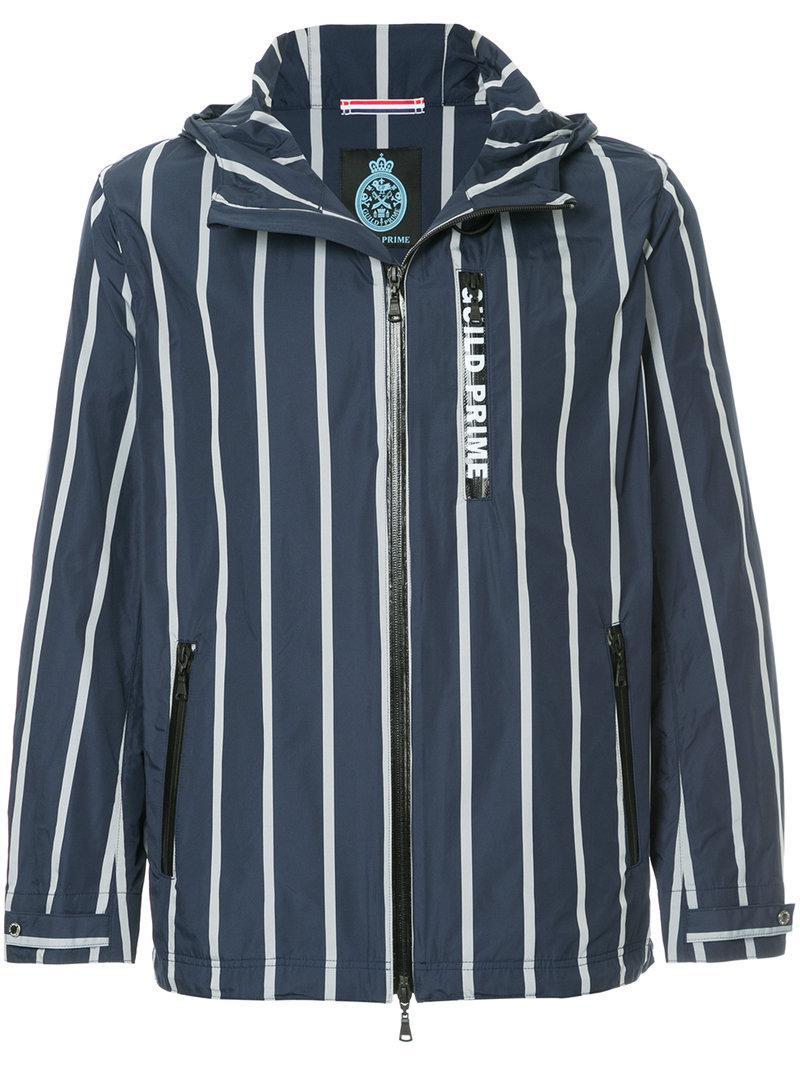 Striped Prime Lightweight Guild Jacket Bleu z76g7YaR