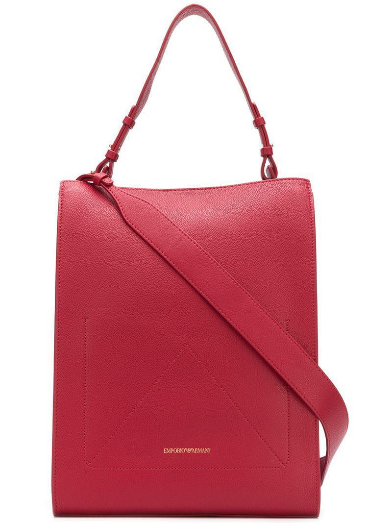 Lyst - Emporio Armani Top Handle Tote Bag in Red 79fb2ddcd7