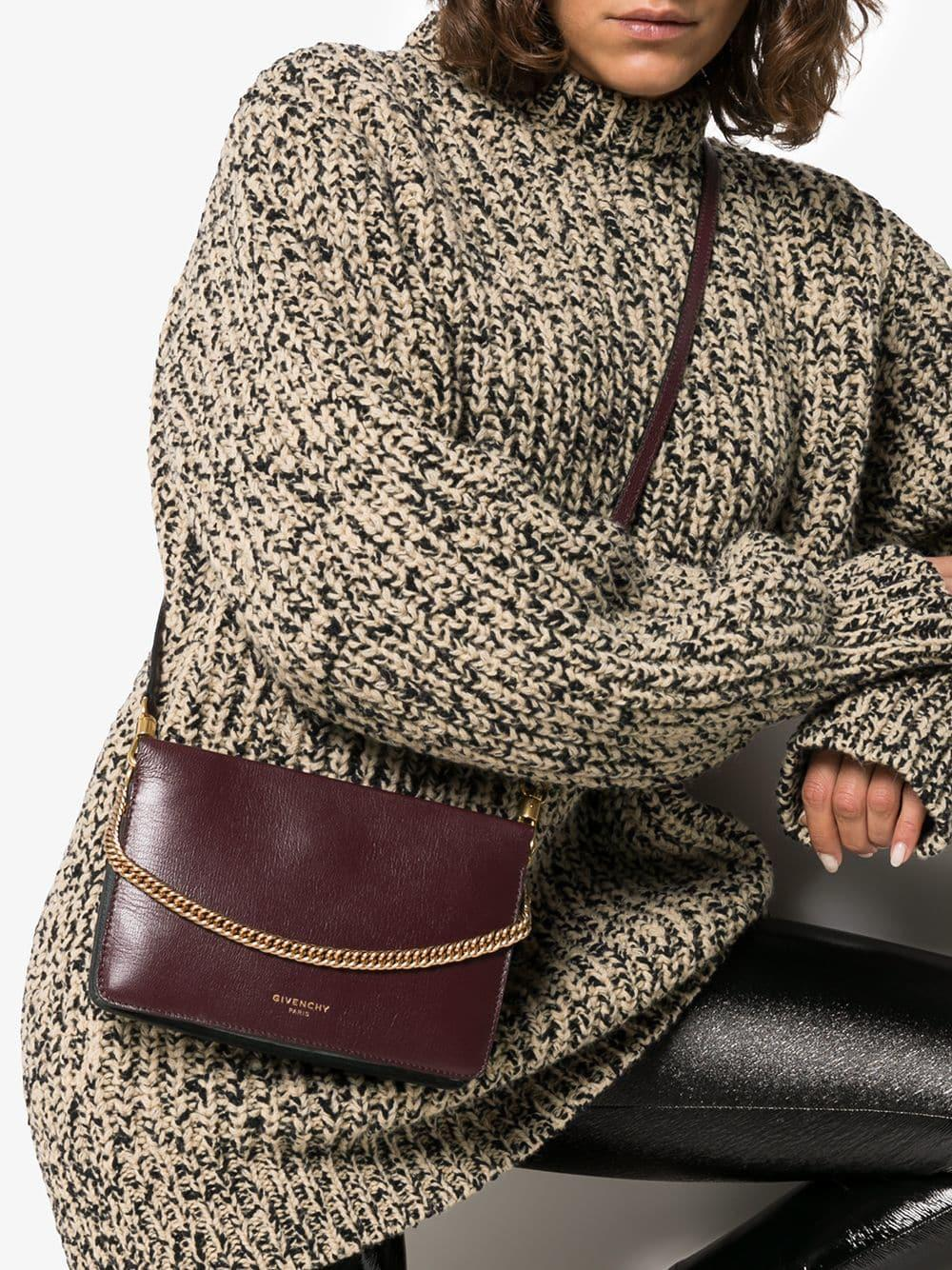 f6bdb19b05 Lyst - Givenchy Burgundy Cross3 Leather Cross-body Bag in Pink