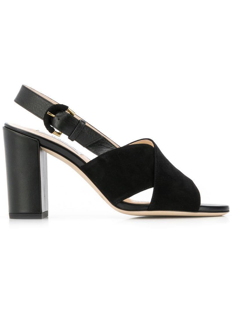 cc6efc6fa7d Lyst - Tod s Block Heel Sandals in Black - Save 8%