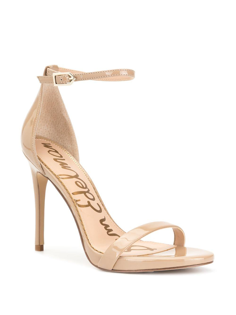 cb4650be93f1 Lyst - Sam Edelman Ariella Patent Heeled Sandals in Brown
