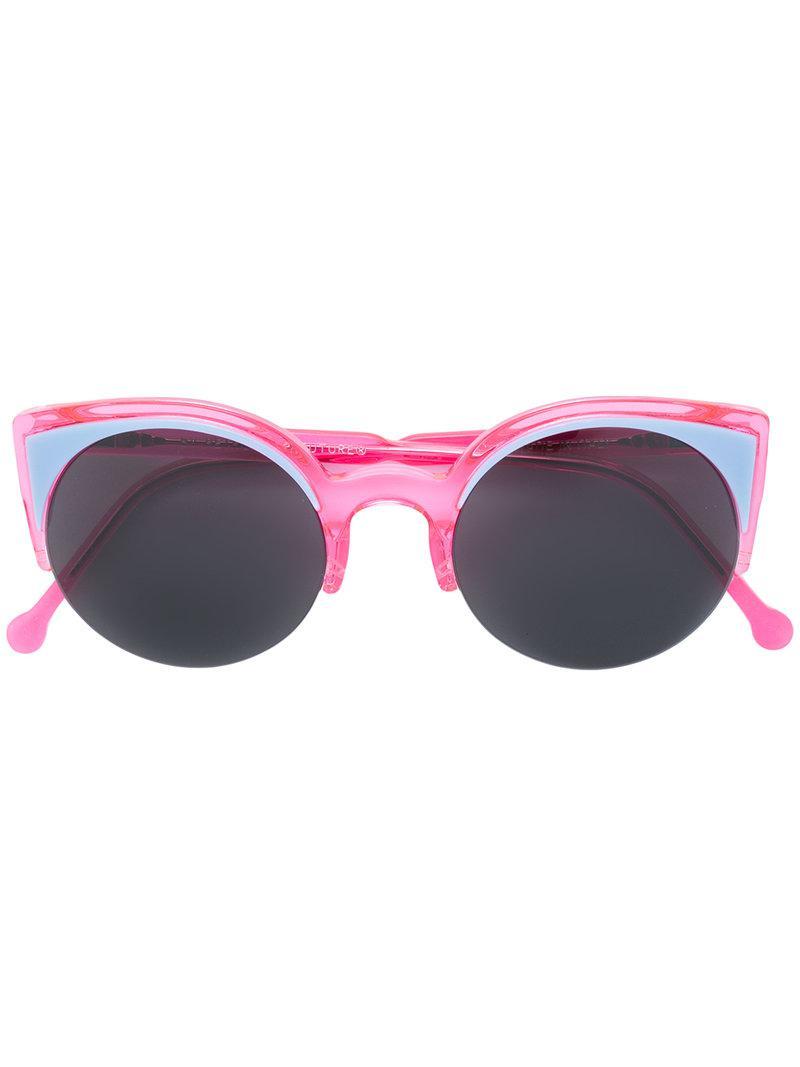cat eye sunglasses - Pink & Purple Retro Superfuture WCIgObU