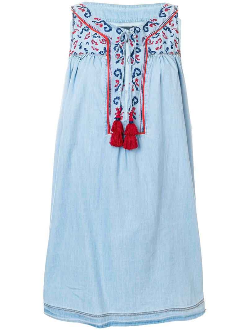 Buy Cheap Official Site Ermanno Scervino short embroidered tassel dress 2018 Cheap Online 0iTDUYmUtT