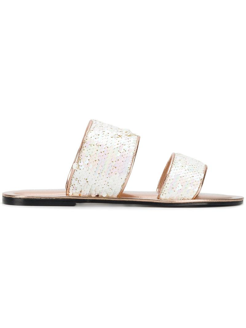 sequined sandals - White Pollini CrPMM