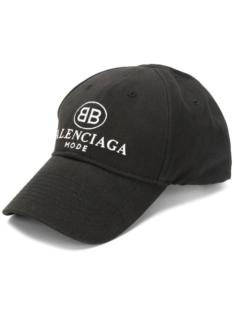 89c6f370f4d Lyst - Balenciaga Embro Bb Cap in Black for Men