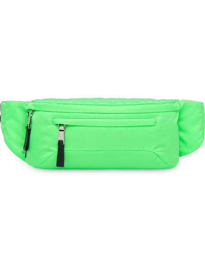 a478e53318d0 Prada Neon Green Technical Fabric Belt Bag in Green for Men - Lyst