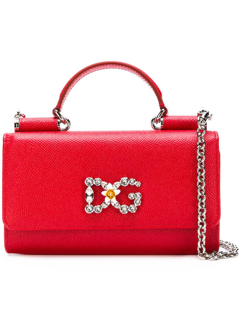 7af6450d08 Lyst - Dolce   Gabbana Sicily Von Mini Tote Bag in Red