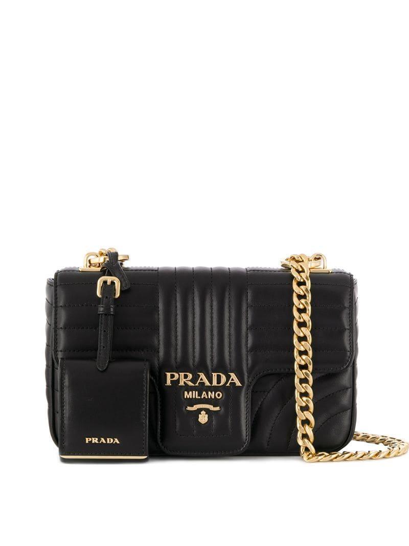 13603a275 Prada - Black Diagramme Shoulder Bag - Lyst. View fullscreen