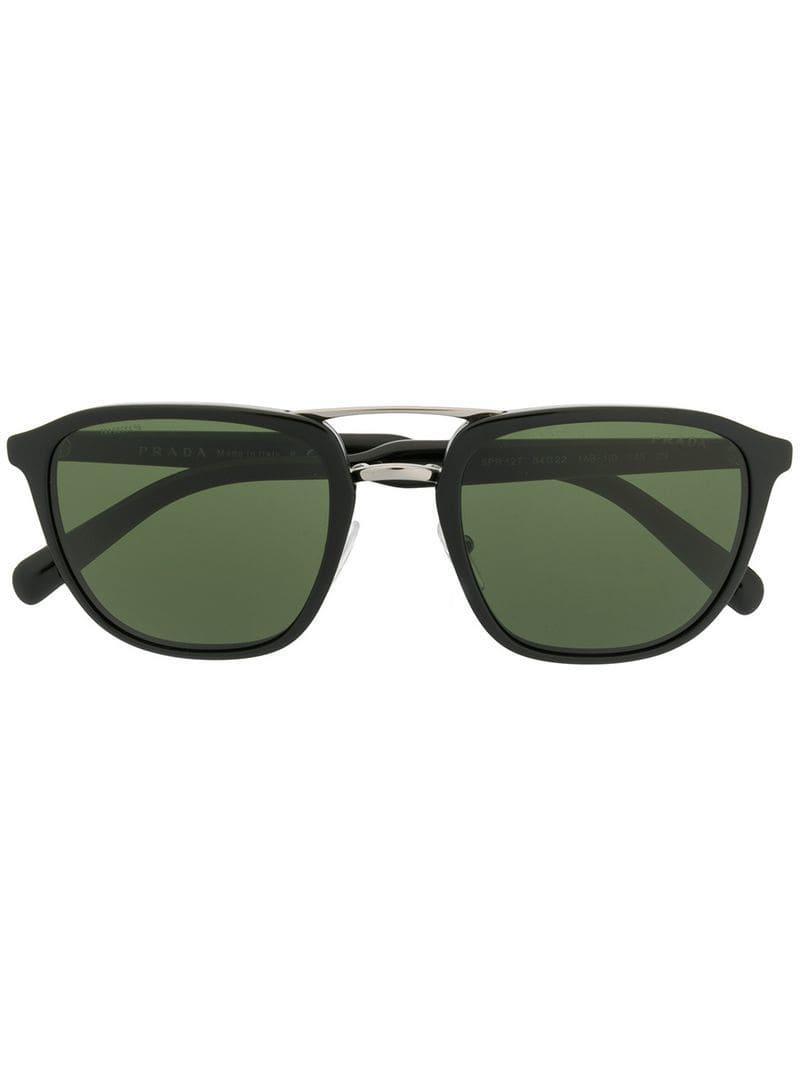 0f1421235dab Prada Double Bridge Sunglasses in Black for Men - Lyst
