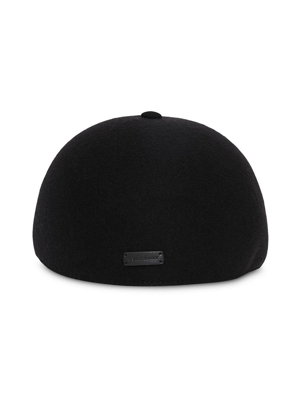 b42b469747c Burberry - Black Felted Wool Baseball Cap - Lyst. View fullscreen