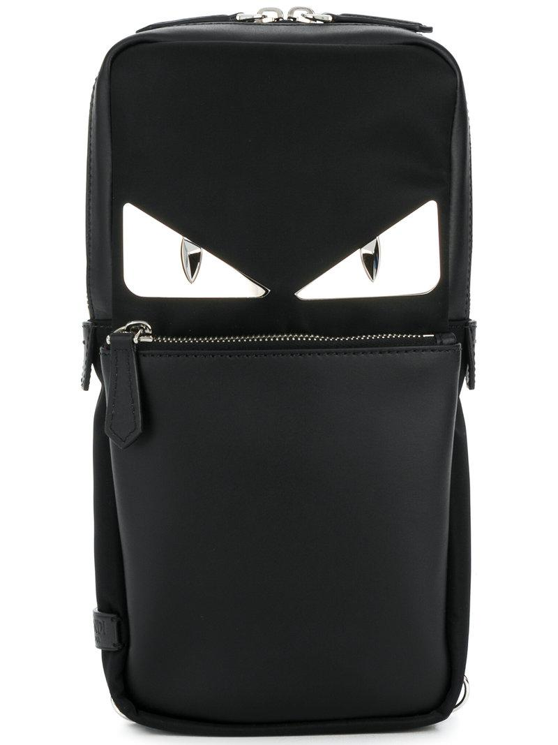 ae96a2a8e348 Lyst - Fendi Bag Bugs-eyes Backpack in Black for Men